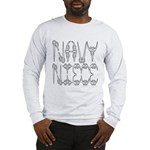 Navy Niece Long Sleeve T-Shirt