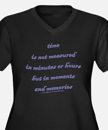 Moments and Memories Women's Plus Size V-Neck Dark