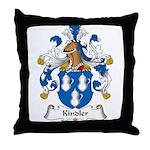 Kindler Family Crest Throw Pillow