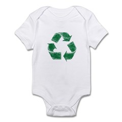 Recycle Logo Distressed Stressed Look Infant Bodys