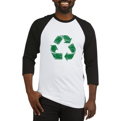 Recycle Logo Distressed Stressed Look Baseball Jer