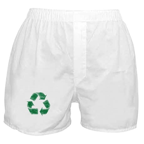 Recycle Symbol - Distressed Boxer Shorts