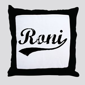 Vintage Roni (Black) Throw Pillow
