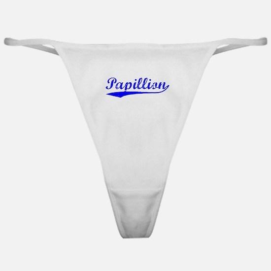 Vintage Papillion (Blue) Classic Thong