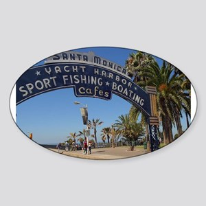Santa Monica Pier Oval Sticker