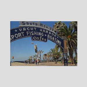 Santa Monica Pier Rectangle Magnet