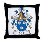 Kaup Family Crest Throw Pillow