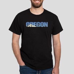 Oregon with Mt. Hood Dark T-Shirt