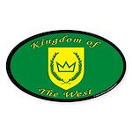 Kingdom of the West Oval Sticker