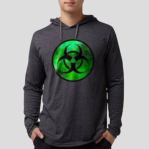 Green Fog Biohazard Symbo Long Sleeve T-Shirt