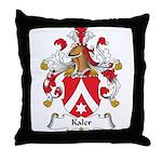 Kaler Family Crest Throw Pillow
