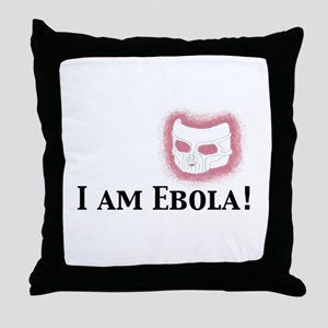 I am Ebola Throw Pillow