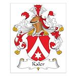 Kaler Family Crest Small Poster