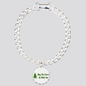 May The Forest Be With Y Charm Bracelet, One Charm