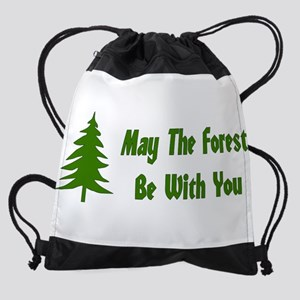 May The Forest Be With You Drawstring Bag