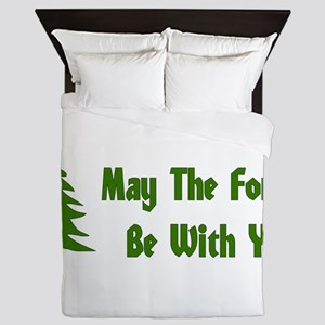 May The Forest Be With You Queen Duvet