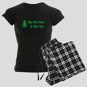 May The Forest Be With You Women's Dark Pajamas