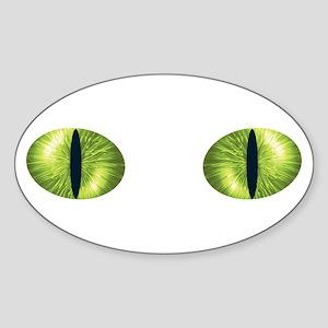 Cat Eyes Oval Sticker