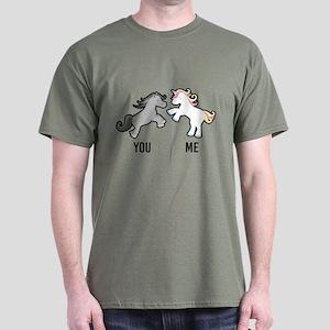 You Me Horse Unicorn Dark T-Shirt