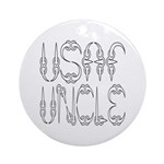 USAF Uncle Ornament (Round)