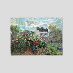 Monet Artist's Garden Argenteuil 5'x7'Area Rug