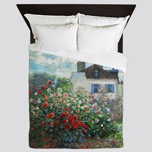 Monet Artist's Garden Argenteuil Queen Duvet