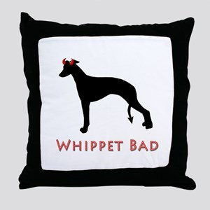 Whippet Bad Design Only Throw Pillow