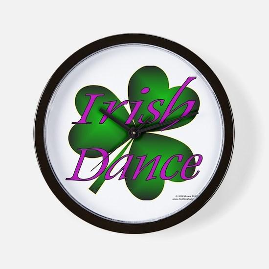 Neon Irish Dance - Wall Clock