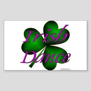Neon Irish Dance - Rectangle Sticker