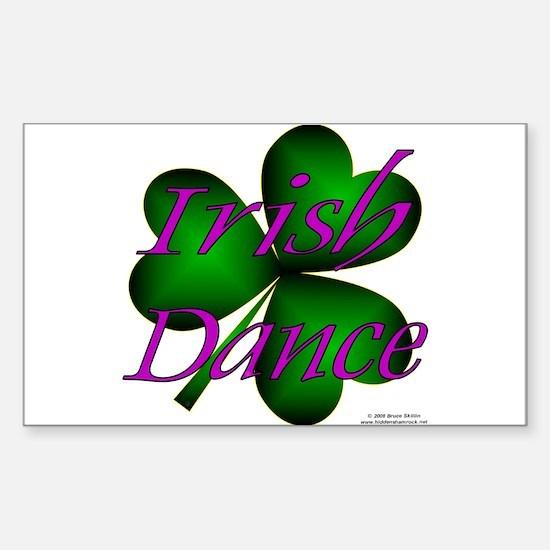 Neon Irish Dance - Rectangle Decal