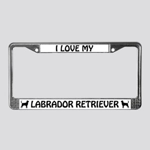 I Love My Labrador Retriever (black) License Frame