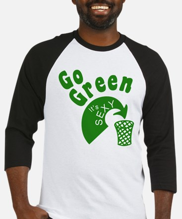 Earth Day - Go Green, It's Se Baseball Jersey