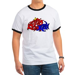 BO GRAFF RED BLUE GOLD T