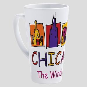 Chicago The Windy City 17 oz Latte Mug