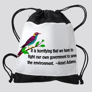 Fighting Government For The Environ Drawstring Bag