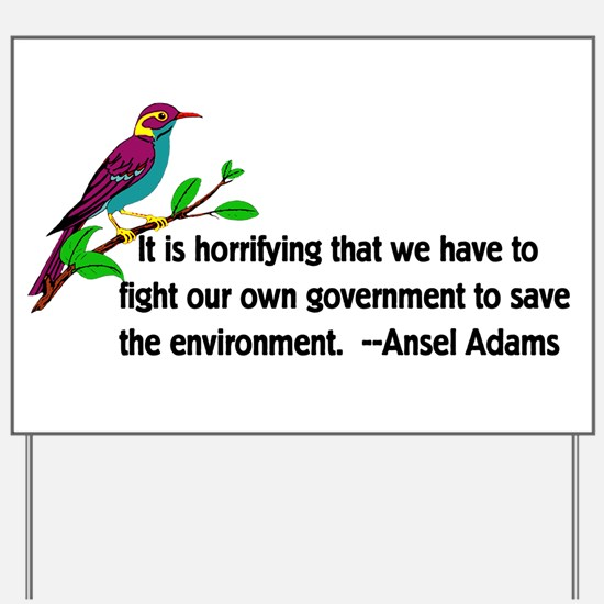 Fighting Government For The Environment Yard Sign