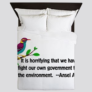 Fighting Government For The Environmen Queen Duvet