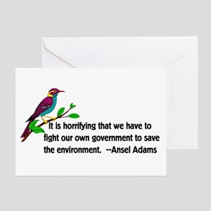 Fighting Government For The Environm Greeting Card