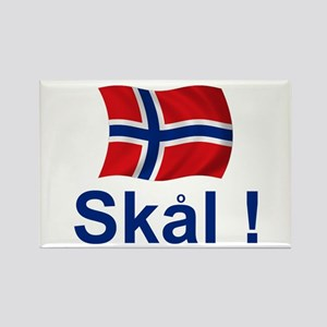 Norwegian Skal! Rectangle Magnet