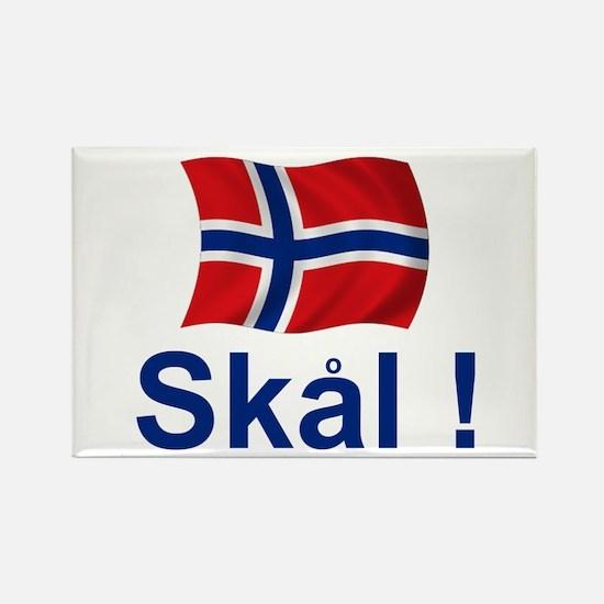 Norwegian Skal! Rectangle Magnet