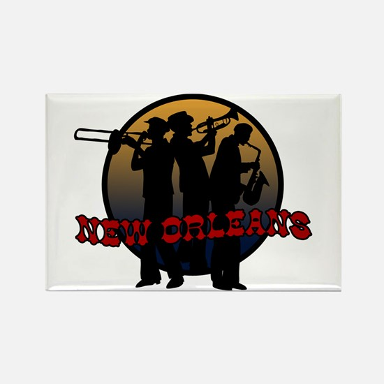 Retro New Orleans Rectangle Magnet
