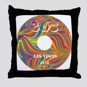 Electric Daisy Carnival Record Throw Pillow