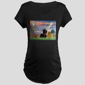 Cloud Angel & Scotty Maternity Dark T-Shirt