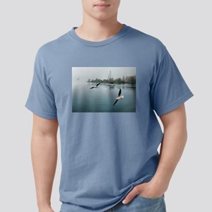 Morning Fog and Seagulls Leaving the Marin T-Shirt