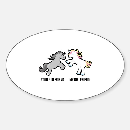Your Girlfriend My Girlfriend Unicorn Decal