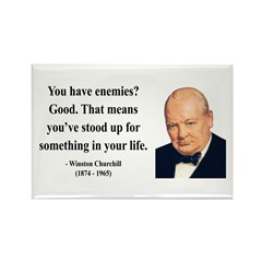 Winston Churchill 17 Rectangle Magnet (10 pack)