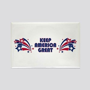 Keep America Great Stars Rectangle Magnet