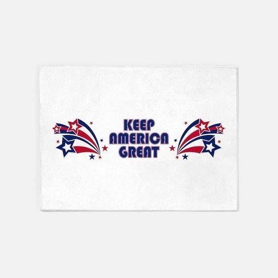 Keep America Great Stars 5'x7' Area Rug