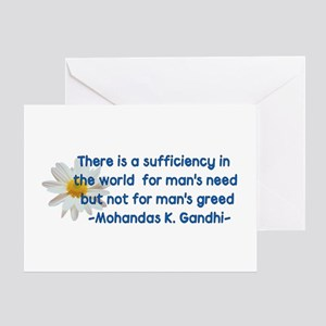 Need Not Greed Greeting Card