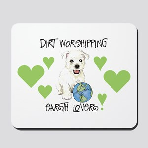 Earth Day Westie Mousepad